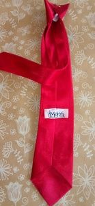 Basic Image Red Clip On Boys Tie